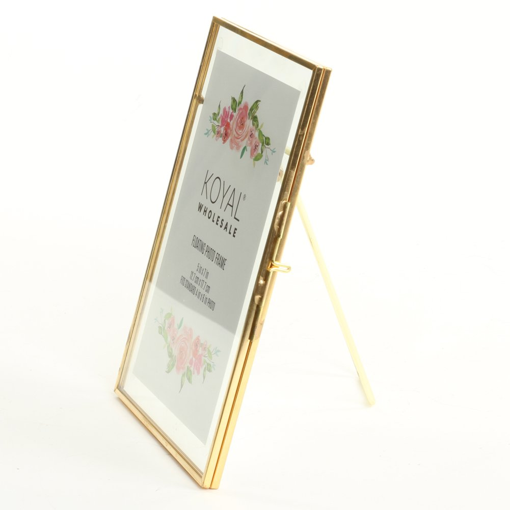 Amazon.com: Koyal Wholesale Pressed Glass Floating Photo Frames 8 ...