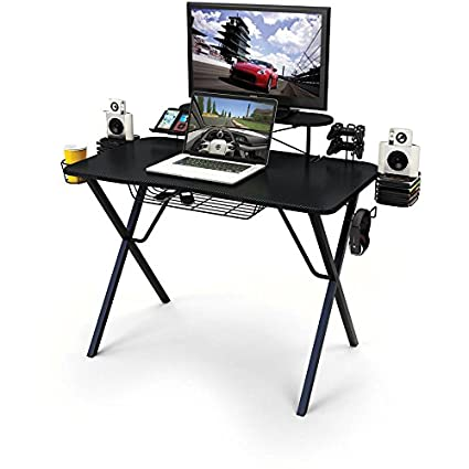 Gaming Desk Pro All In One Professional Gamer Desk With Storage Built In