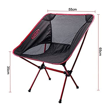 G4Free® Portable ultralight outdoor/picnic/fishing folding sports chairs ground chair (Red)