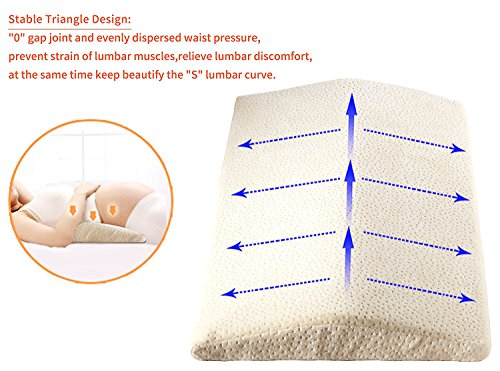 Lemebo Soft Memory Foam Sleeping Pillow for Lower Back Pain,Multifunctional Lumbar Support Cushion for Hip,Sciatica and Joint Pain Relief,Orthopedic Side Sleeper Bed Pillow