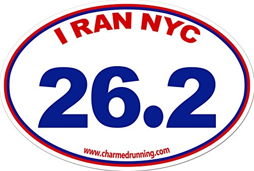 Charmed Running I Ran NYC New York City Marathon 26.2 Distance Removable Window Decal Bumper Sticker NO YEAR SPECIFIED