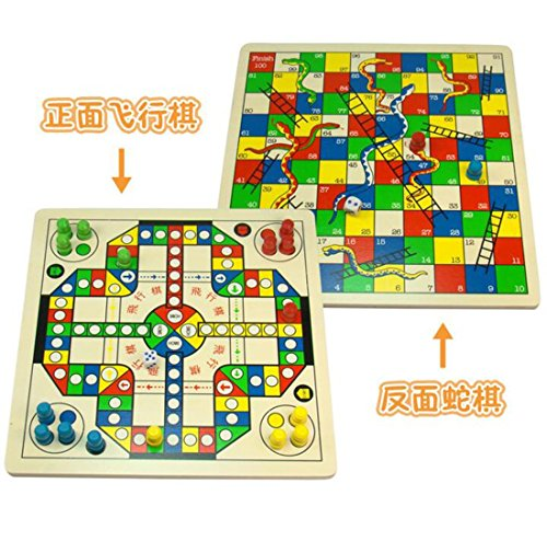 Flight Snake Chess Wooden Educational Toys For Children And Desktop Intelligence - Flight Desktop