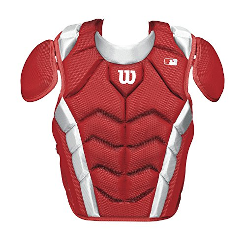 Wilson Pro Stock Chest Protector, Scarlet, 15.5