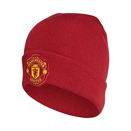 (Manchester United Adidas 3S Red Woolie Hat 2018/19 )