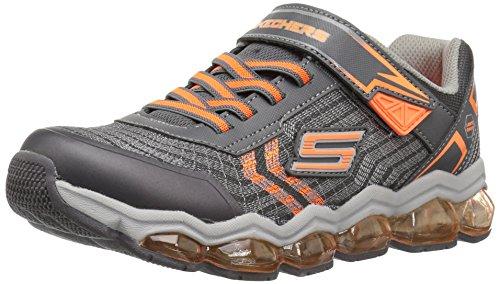 Skechers Kids Boys' Turbo-Flash Sneaker,Charcoal/Orange,12 Medium US Little Kid