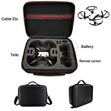DJI TELLO Royal drone suitcase PU material. Shoulder Bag Cover PU + EVA Interior Waterproof DJI TELLO Drone Brand New (Black)