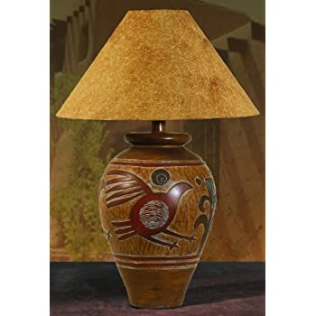 Table lamp table lamps southwestern style amazon indian bird southwest table lamp mozeypictures Image collections