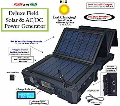 HomeLifeGoods 350W Portable All-In-One AC/DC/Solar Field Generator