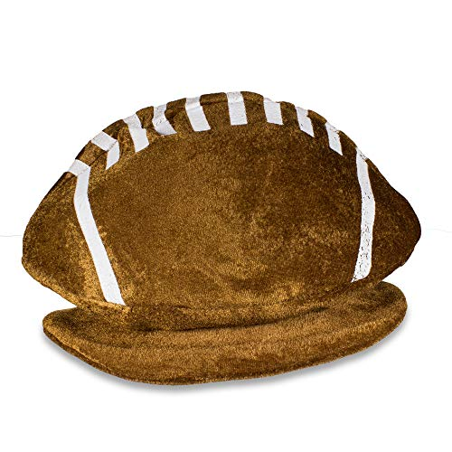 Plush Football Party Hat Tailgating Superbowl Costume