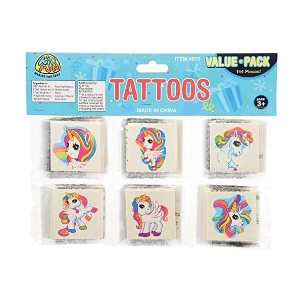 144 - Unicorn Temporary Tattoos 5