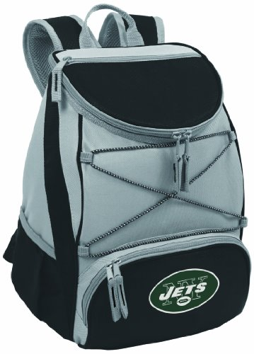 PICNIC TIME NFL New York Jets PTX Insulated Backpack Cooler, Black by PICNIC TIME