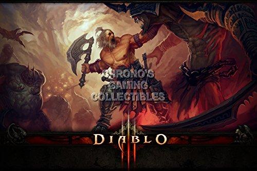 Diablo CGC Huge Poster Glossy Finish III PS3 PS4 Xbox 360 ONE - Class Barbarian - DIA013 (24