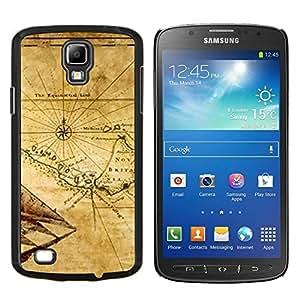 """Be-Star Único Patrón Plástico Duro Fundas Cover Cubre Hard Case Cover Para Samsung i9295 Galaxy S4 Active / i537 (NOT S4) ( Mapa antiguo Bretaña Geografía Eart Continente"""" )"""