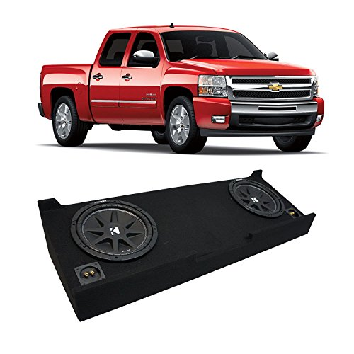 Fits 2007-2013 Chevy Silverado Crew Cab Truck Kicker Comp C12 Dual 12″ Sub Box Enclosure – Final 2 Ohm
