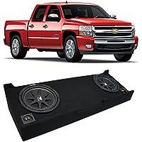 2007-2013 Chevy Silverado Crew Cab Truck Kicker Comp C12 Dual 12 Sub Box Enclosure - Final 2 Ohm