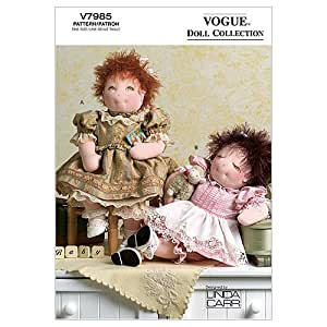 Vogue patterns v7985 15 inch baby dolls and for 5 inch baby dolls for crafts