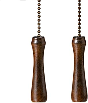 Ceiling Fan Pull Chain Decorative Extender Ornaments 12 Inches Vintage Bronze Color Pull Chain Extension For Ceiling Light Lamp Fan Chain Copper 2 Pack