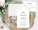 Formal Wedding Invitation, Simple Wedding Invitation, Black and White Wedding Invitation