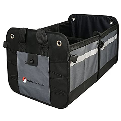 Higher Gear Products Premium Car Trunk Organizer – Best Heavy Duty Construction - Great For Car, SUV, Truck, Minivan, Home- Collapsible For Easy (Sub Cargo Organizer)
