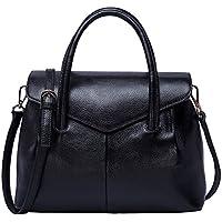 BOYATU Real Leather Handbag for Women Elegant Business Satchel Top Handle Bag