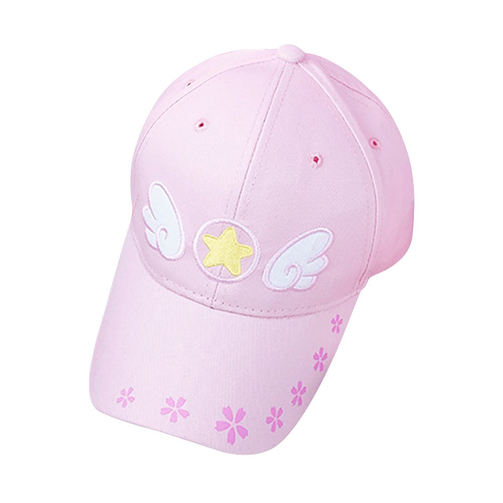 KINOMOTO Anime Snapback Cap Pink Summer Cap Adjustable Baseball Cap