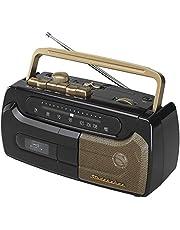 Studebaker SB2127BG Portable Cassette Recorder and Player with FM Radio