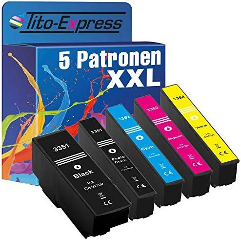 Tito Express Platinumserie 5 Patronen Xxl Kompatibel Mit Epson T3351 T3364 33xl Für Expression Premium Xp 640 Xp 900 Xp 645 Xp 540 Xp 7100 Xp 630 Xp 635 Xp 830 Xp 530 Bürobedarf Schreibwaren