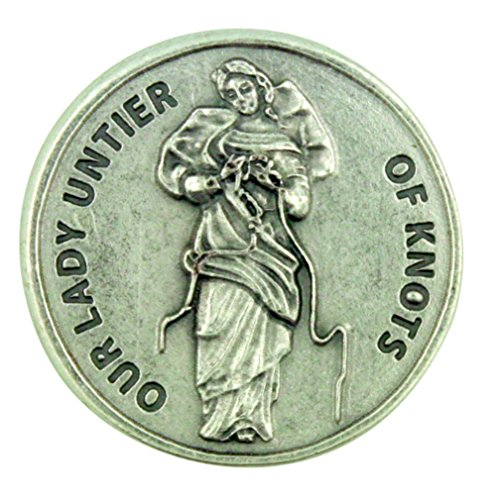 - Blessed Virgin Mary Our Lady Untier of Knots Pocket Token with Prayer Back