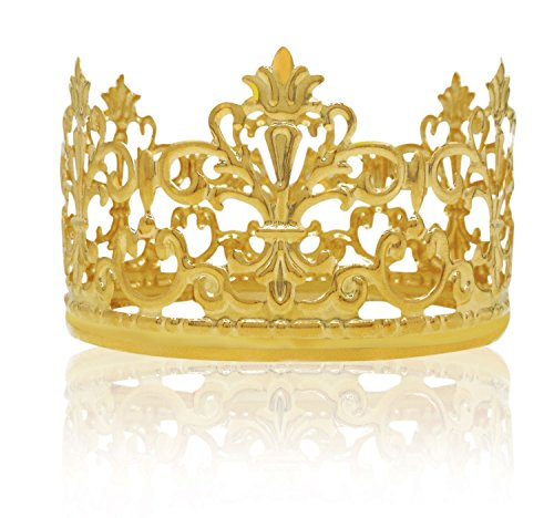 Cake Decor (Vintage Gold Crown Cake Topper Queen Princess Cake Photo Party Baby Decor)
