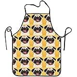 Sandayun88x Apron Funny Pug Smile Wallpaper Restaurant Apron