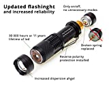 ROMAN JOBS Brightest LED Flashlight or Torch Light - Ultra-Bright, Zoomable Focus & Waterproof Flashlight LED - Rugged Build & Long Life - Includes 2 Rechargeable Batteries & Charger