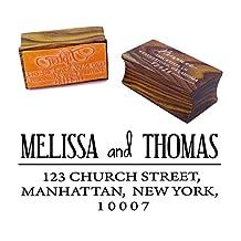 Custom Wedding Invitatin Stamp Personalized Wood Mounted Rubber Stamp Wedding Gift