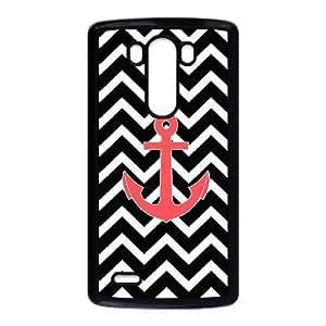 Diy Retro Chevron Anchor Phone Case for LG G3 Black Shell Phone JFLIFE(TM) [Pattern-6]