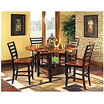 Counter Height Dining Set By Lauren Wells Pierson 5 Piece Features Drop Leaf Design Built In Lazy Susan And Under Table Storage Oak Finish Great Addition