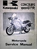 Kawasaki Service Manual Concours 1000 GTR 1986 2000
