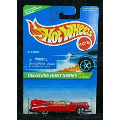Hot Wheels 1996 Collector #432 '59 Caddy Treasure Hunt 5 1/64: Toys & Games