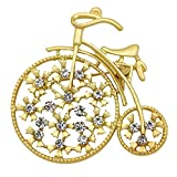 SENFAI Sports Style Gold Color Bike and Bicycle Brooch for Sportsperson (style 1)