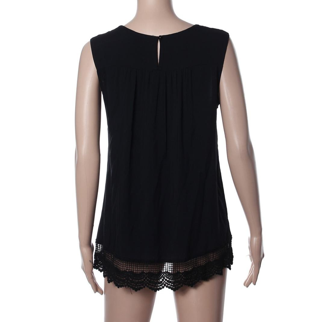 Resplend Damen Sommer Crop Top T-Shirt Mode Spitze Tank Top Halfter Bluse Off Shoulder Einfarbige /Ärmellose Weste L/ässig Vest-Oberteile