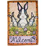 Carson Home Accents FlagTrends 48825 Bunny Trio Classic Outdoor Large Garden Flag