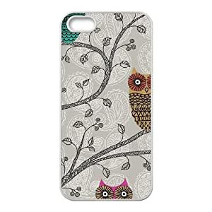 Spring Owls iPhone 5 5s Cell Phone Case White phone component RT_207902