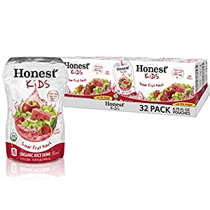 Honest Kids Super Fruit Punch Organic Fruit Juice Drink, 6.75 fl oz, 32 Pack