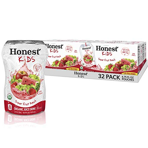 Juice Drinks - Honest Kids Super Fruit Punch Organic Fruit Juice Drink, 6.75 Fl. Oz, 32 Pack