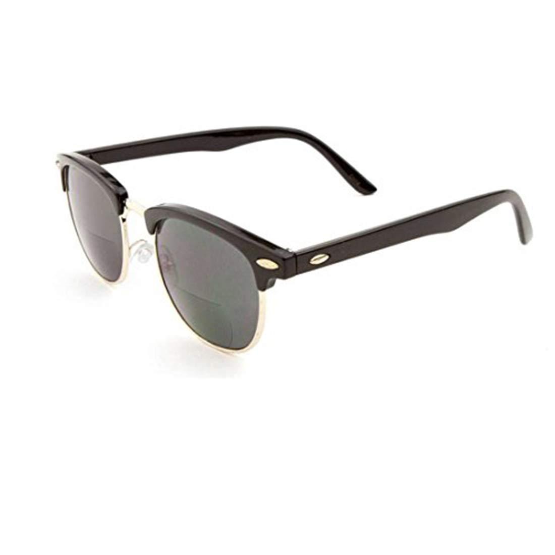 Metal Clubmaster Sunglasses Half Rimmed Black