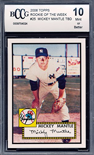 2006 Topps 1952 Rookie of Week #25 Mickey Mantle Baseball Card Graded BCCG 10 ()