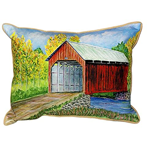 Betsy Drake Dicks Covered Bridge Extra Large 20 X 24 Indoor / Outdoor Pillow (Indoor Chaise Chair Cover)