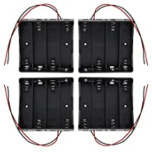 abcGoodefg 3.7V 18650 Battery Holder Case Plastic Battery Storage Box with Wire Leads (4 PCS 4 SLOT)