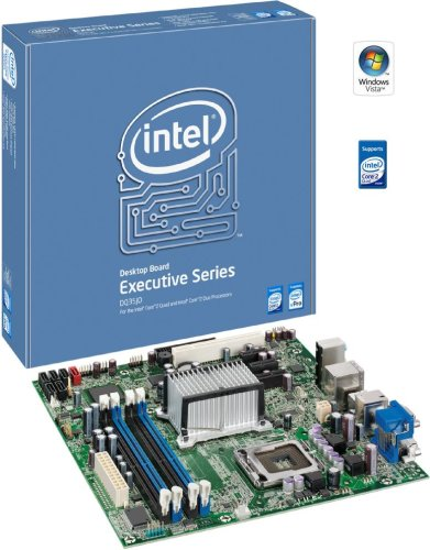 Intel DQ35JOE Executive Series Q35 Desktop Board, uATX DDR2 800, vPro, Intel Graphics, PCIe x16, 1333MHz FSB, LGA775, Retail Motherboard (Core Quad Motherboard Pentium)
