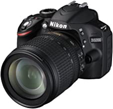 """Nikon D3200 - Cámara réflex digital de 24 Mp (pantalla 2.9"""", estabilizador, vídeo Full HD), color negro - kit con objetivo AF-S DX 18-105mm f/5.6 VR"""