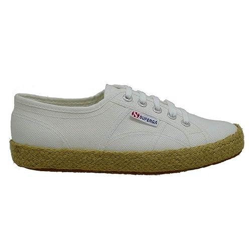 Zapatillas Blancas Esparto Superga 2750-Cotropew 901: Amazon.es: Zapatos y complementos