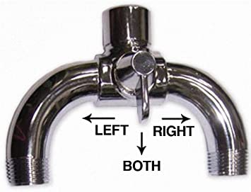 Dual Shower Head Shower Arm